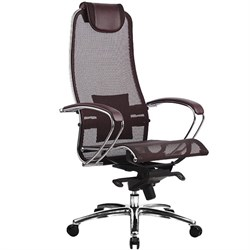 Эргономическое офисное кресло Metta SAMURAI S-1.03 (Цвет обивки:Темно бордовый, Цвет каркаса:Серебро) - фото 25932