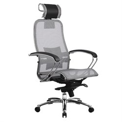 Эргономическое офисное кресло Metta SAMURAI S-2.03 (Цвет обивки:Серый, Цвет каркаса:Серебро) - фото 25958