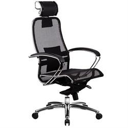 Эргономическое офисное кресло Metta SAMURAI S-2.03 (Цвет обивки:Черный, Цвет каркаса:Серебро) - фото 25965
