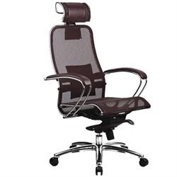 Эргономическое офисное кресло Metta SAMURAI S-2.03 (Цвет обивки:Темно бордовый, Цвет каркаса:Серебро) - фото 25979