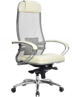 Эргономическое офисное кресло Metta SAMURAI SL-1.03 (Цвет обивки:Бежевый, Цвет каркаса:Серебро) - фото 25993