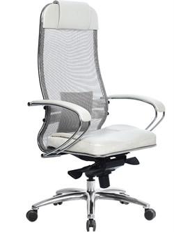 Эргономическое офисное кресло Metta SAMURAI SL-1.03 (Цвет обивки:Белый лебедь, Цвет каркаса:Серебро) - фото 26002