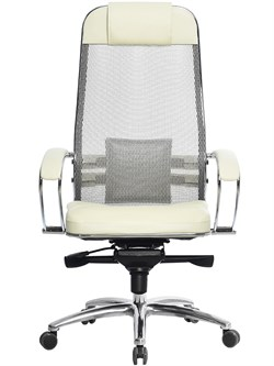 Эргономическое офисное кресло Metta SAMURAI SL-1.03 (Цвет обивки:Темно бордовый, Цвет каркаса:Серебро) - фото 26007