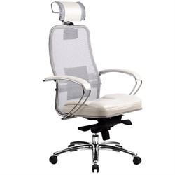 Эргономическое офисное кресло Metta SAMURAI SL-2.03 (Цвет обивки:Белый лебедь, Цвет каркаса:Серебро) - фото 26028