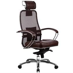 Эргономическое офисное кресло Metta SAMURAI SL-2.03 (Цвет обивки:Темно коричневый, Цвет каркаса:Серебро) - фото 26042
