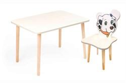 Комплект детской мебели Polli Tolli Джери с белым столиком (Цвет столешницы:Белый, Цвет сиденья и спинки стула:Белый) - фото 26053