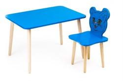 Комплект детской мебели Polli Tolli Джери с голубым столиком (Цвет столешницы:Голубой, Цвет сиденья и спинки стула:Голубой) - фото 26058