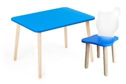 Комплект детской мебели Polli Tolli Джери с голубым столиком (Цвет столешницы:Голубой, Цвет сиденья и спинки стула:Бело-голубой) - фото 26059