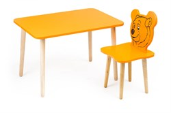 Комплект детской мебели Polli Tolli Джери с оранжевым столиком (Цвет столешницы:Оранжевый, Цвет сиденья и спинки стула:Оранжевый) - фото 26068