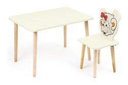 Комплект детской мебели Polli Tolli Джери с ванильным столиком (Цвет столешницы:Ваниль, Цвет сиденья и спинки стула:Ваниль) - фото 26071