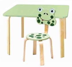 Комплект детской мебели Polli Tolli Мордочки с салатовым столиком (Цвет столешницы:Салатовый, Цвет сиденья и спинки стула:Салатовый) - фото 26095