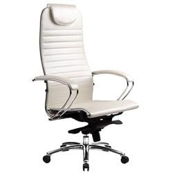 Эргономическое офисное кресло Metta SAMURAI K-1.03 (Цвет обивки:Белый лебедь, Цвет каркаса:Серебро) - фото 26116