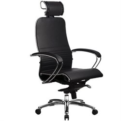 Эргономическое офисное кресло Metta SAMURAI K-2.03 (Цвет обивки:Черный, Цвет каркаса:Серебро) - фото 26138