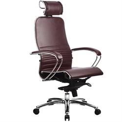 Эргономическое офисное кресло Metta SAMURAI K-2.03 (Цвет обивки:Темно бордовый, Цвет каркаса:Серебро) - фото 26149