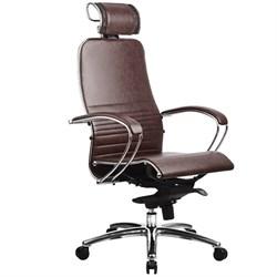 Эргономическое офисное кресло Metta SAMURAI K-2.03 (Цвет обивки:Темно коричневый, Цвет каркаса:Серебро) - фото 26153