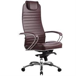 Эргономическое офисное кресло Metta SAMURAI KL-1.03 (Цвет обивки:Темно бордовый, Цвет каркаса:Серебро) - фото 26168