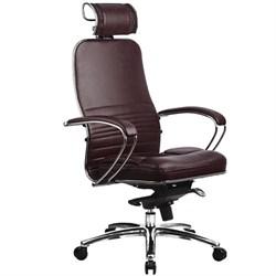 Эргономическое офисное кресло Metta SAMURAI KL-2.03 (Цвет обивки:Темно бордовый, Цвет каркаса:Серебро) - фото 26190