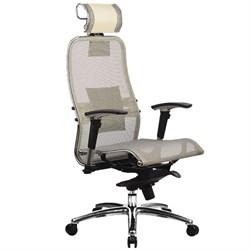 Эргономическое офисное кресло Metta SAMURAI S-3.03 (Цвет обивки:Бежевый, Цвет каркаса:Серебро) - фото 26200