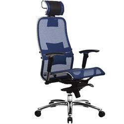 Эргономическое офисное кресло Metta SAMURAI S-3.03 (Цвет обивки:Синий, Цвет каркаса:Серебро) - фото 26206