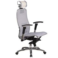 Эргономическое офисное кресло Metta SAMURAI S-3.03 (Цвет обивки:Белый лебедь, Цвет каркаса:Серебро) - фото 26227