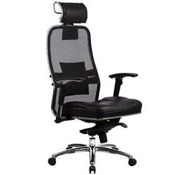 Эргономическое офисное кресло Metta SAMURAI SL-3.03 (Цвет обивки:Черный, Цвет каркаса:Серебро) - фото 26248