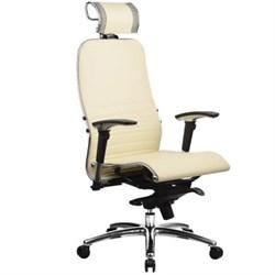 Эргономическое офисное кресло Metta SAMURAI K-3.03 (Цвет обивки:Бежевый, Цвет каркаса:Серебро) - фото 26270