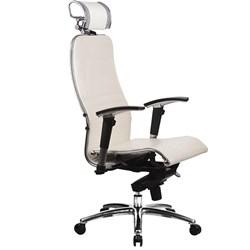 Эргономическое офисное кресло Metta SAMURAI K-3.03 (Цвет обивки:Белый лебедь, Цвет каркаса:Серебро) - фото 26274