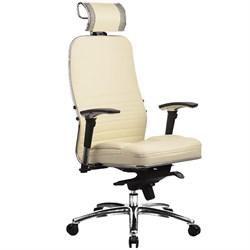 Эргономическое офисное кресло Metta SAMURAI KL-3.03 (Цвет обивки:Бежевый, Цвет каркаса:Серебро) - фото 26289