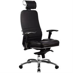 Эргономическое офисное кресло Metta SAMURAI KL-3.03 (Цвет обивки:Черный, Цвет каркаса:Серебро) - фото 26292