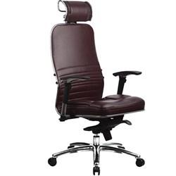 Эргономическое офисное кресло Metta SAMURAI KL-3.03 (Цвет обивки:Темно бордовый, Цвет каркаса:Серебро) - фото 26298