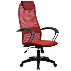 Офисное кресло Metta BP-8 (Цвет обивки:Красный, Цвет каркаса:Черный) - фото 26314
