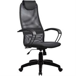 Офисное кресло Metta BP-8 (Цвет обивки:Тёмно - серый, Цвет каркаса:Черный) - фото 26319