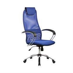 Офисное кресло Metta BK-8 (Цвет обивки:Синий, Цвет каркаса:Серебро) - фото 26331