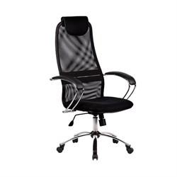 Офисное кресло Metta BK-8 (Цвет обивки:Черный, Цвет каркаса:Серебро) - фото 26339