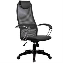 Офисное кресло Metta BK-8 (Цвет обивки:Тёмно - серый, Цвет каркаса:Черный) - фото 26359