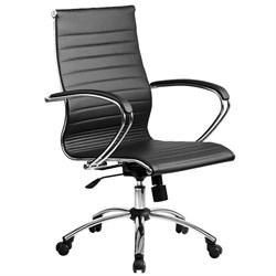 Офисное кресло Metta SkyLine KN-2 (Цвет обивки:Черный, Цвет каркаса:Серебро) - фото 26376