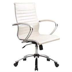 Офисное кресло Metta SkyLine KN-2 (Цвет обивки:Белый лебедь, Цвет каркаса:Серебро) - фото 26377