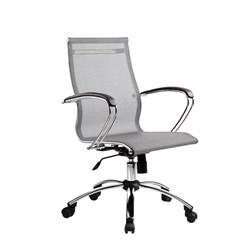 Офисное кресло Metta SkyLine S-2 (Цвет обивки:Серый, Цвет каркаса:Серебро) - фото 26382
