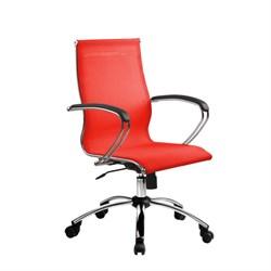 Офисное кресло Metta SkyLine S-2 (Цвет обивки:Красный, Цвет каркаса:Серебро) - фото 26385