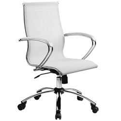 Офисное кресло Metta SkyLine S-2 (Цвет обивки:Белый, Цвет каркаса:Серебро) - фото 26391