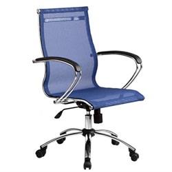 Офисное кресло Metta SkyLine S-2 (Цвет обивки:Васильковый, Цвет каркаса:Серебро) - фото 26397