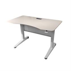 Пневматический стол Rifforma-03 (Цвет столешницы:Светлый дуб, Цвет ножек стола:Белый) - фото 26582