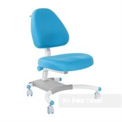 Подростковое кресло для дома FunDesk Ottimo (Цвет обивки:Голубой, Цвет каркаса:Белый) - фото 26587
