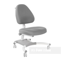 Подростковое кресло для дома FunDesk Ottimo (Цвет обивки:Серый, Цвет каркаса:Белый) - фото 26610