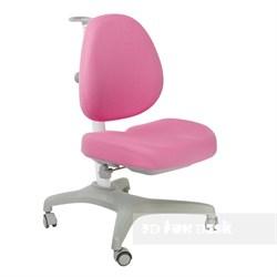 Подростковое кресло для дома FunDesk Bello I (Цвет обивки:Розовый, Цвет каркаса:Серый) - фото 26678