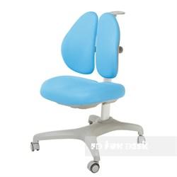 Подростковое кресло для дома FunDesk Bello II (Цвет обивки:Голубой, Цвет каркаса:Серый) - фото 26692