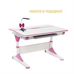 Парта-трансформер для школьника FunDesk Trovare (Цвет столешницы:Розовый, Цвет ножек стола:Розовый) - фото 26821