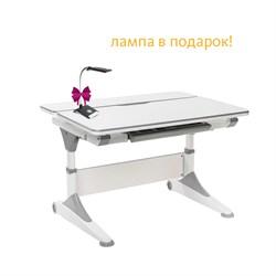 Парта-трансформер для школьника FunDesk Trovare (Цвет столешницы:Серый, Цвет ножек стола:Серый) - фото 26842