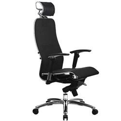 Эргономическое офисное кресло Metta SAMURAI S-3.03 Black Plus (Цвет обивки:Черный плюс, Цвет каркаса:Серебро) - фото 26853