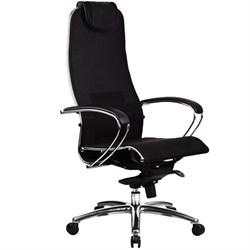 Эргономическое офисное кресло Metta SAMURAI S-1.03 Black Plus (Цвет обивки:Черный плюс, Цвет каркаса:Серебро) - фото 26857